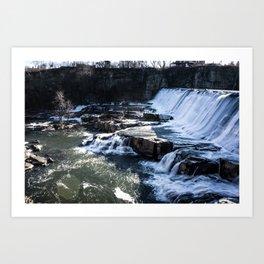 Upstate New York Waterfall Art Print
