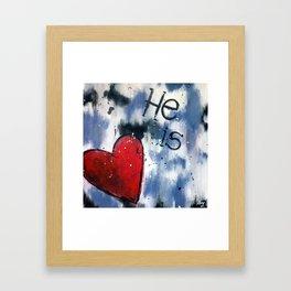 He is Love Framed Art Print