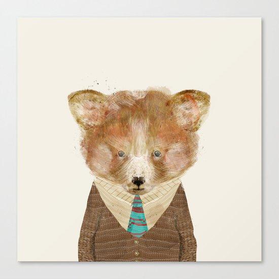 little red panda Canvas Print