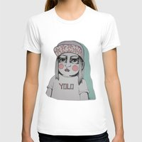 yolo T-shirts featuring Yolo  by Agnes Emilia