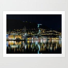 City of Bergen, Norway Art Print