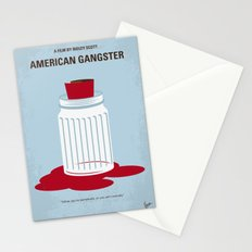 No748 My American Gangster minimal movie poster Stationery Cards
