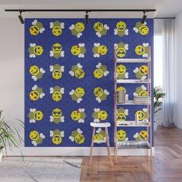Yellowjacket Emojis Wall Mural