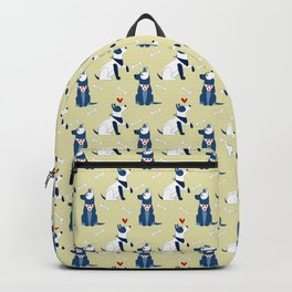 dogs pattern with bones Backpack