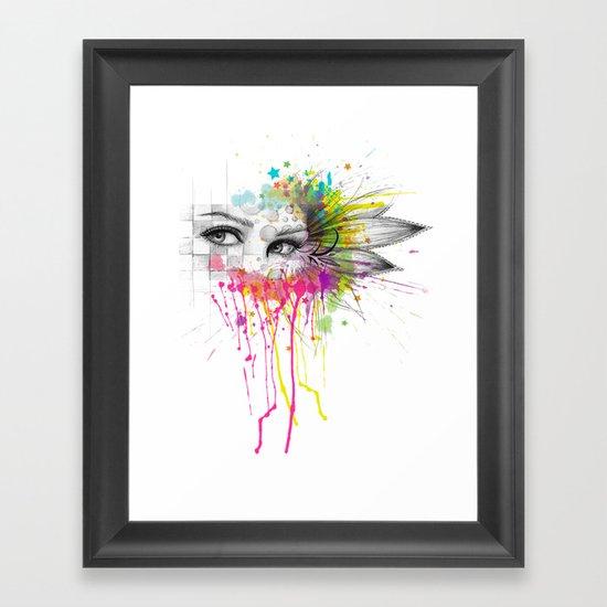 Beautiful Flower Eyes Framed Art Print
