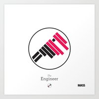 engineer Art Prints featuring The Engineer by MASS collective