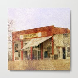 Abandoned Feed Store Metal Print
