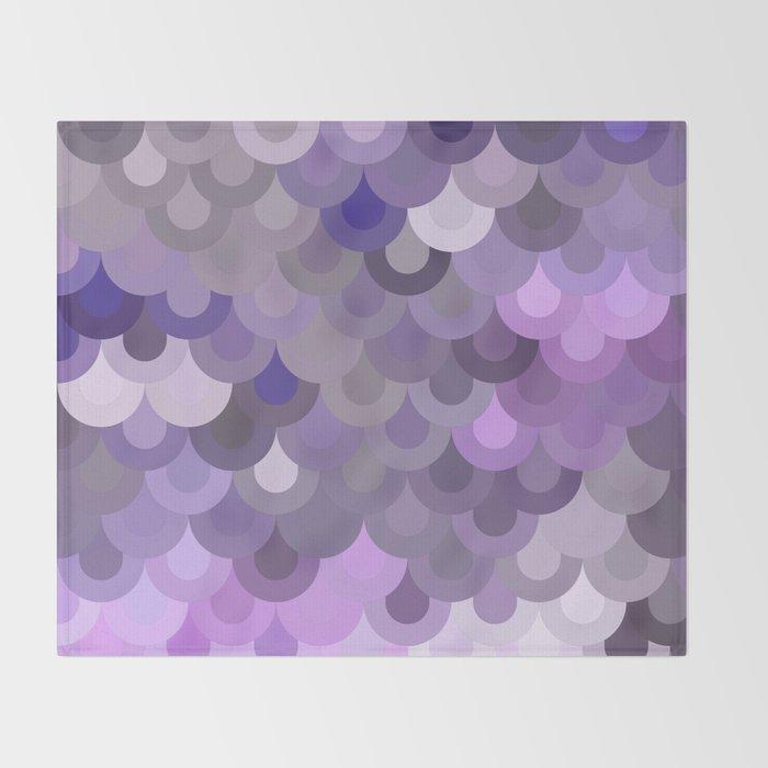 Purple Scales Throw Blanket