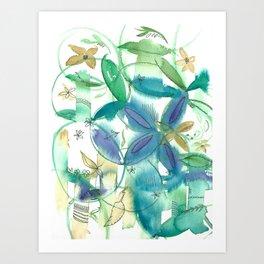Boho Bamboo Art Print