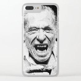Charles Bukowski Clear iPhone Case