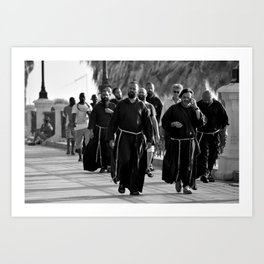 A holy afternoon stroll on the Lungomare of Reggio Calabria, Italy Art Print