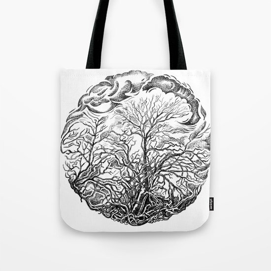 Forest and sky Tote Bag