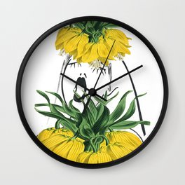 Look through the Flowers 4 Wall Clock