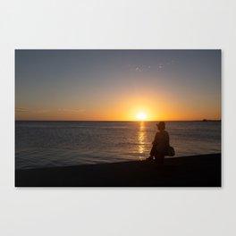 Beach in an island of French Polynesia Canvas Print