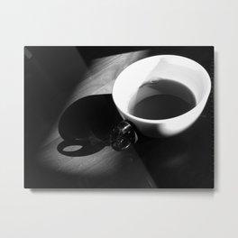 Tea and Light Metal Print