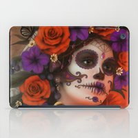 day of the dead iPad Cases featuring Day of the Dead by Cellesria /Tanya Varga - Digital Artist