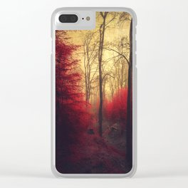 Ruby Red Forest Clear iPhone Case