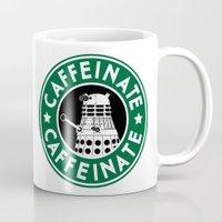 dalek Mugs featuring Dalek Caffeinate by ThePhantomMoon
