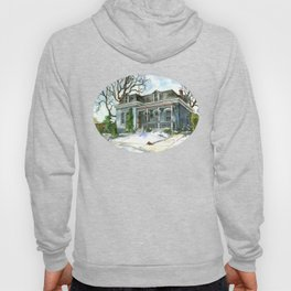 A Cozy Winter Cottage Hoody