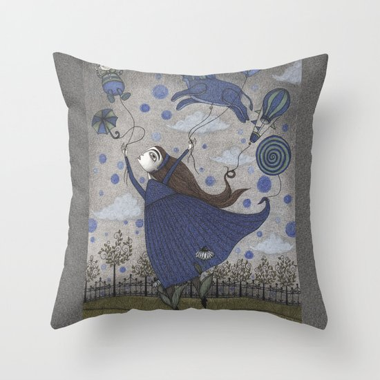 Violetta Dreaming Throw Pillow