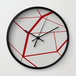RED GEOMETRIC Wall Clock