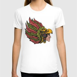 Indian Chieftain Head Illustration T-shirt