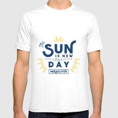 Heraclitus - The sun is new each day Mens Fitted Tee White SMALL