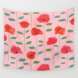 Wild Poppies Wall Tapestry
