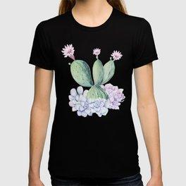 In Love Rose Cactus + Succulents T-shirt