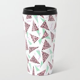 Everitt - triangles minimal modern abstract pattern design geometric decor Travel Mug