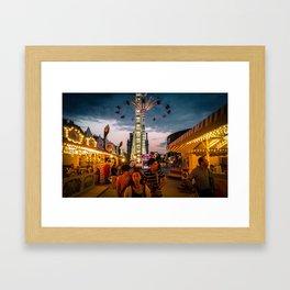 Paris, la fête du jardin des Tuileries Framed Art Print