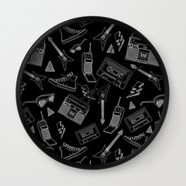 Livin in the 90s // Black Wall Clock