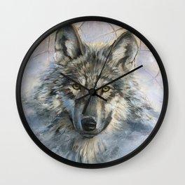 Dreamcatcher - Spirit Animal Wolf Wall Clock