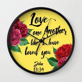 John 13:34 Wall Clock