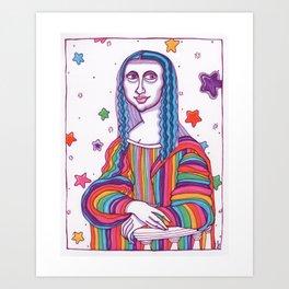 Mona Lisa Frank Art Print