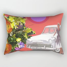 The Unimpressed Tourist (red version) Rectangular Pillow