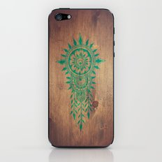emerald green rustic mandala iPhone & iPod Skin