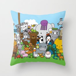 Zoe animals Throw Pillow