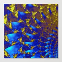 fractal Canvas Prints featuring Fractal. by Assiyam