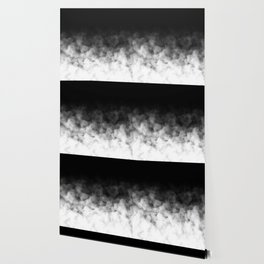 Ombre Black White Clouds Minimal Wallpaper