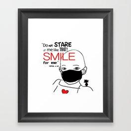 Smile for me ! Framed Art Print
