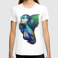 peacock T-shirts featuring Peacock Queen by Artgerm™