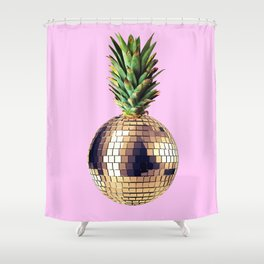 Ananas party (pineapple) Pink version Shower Curtain