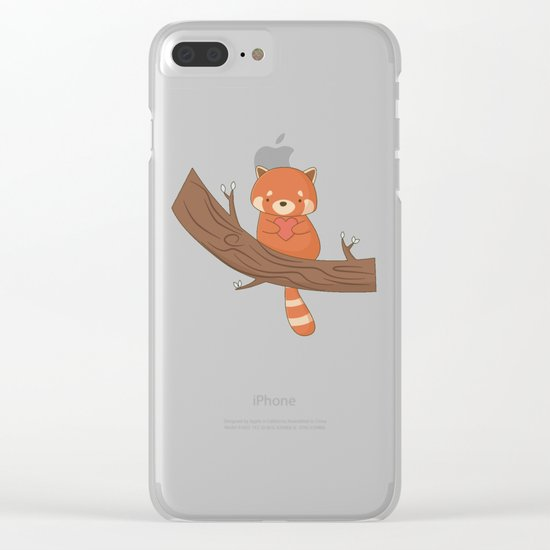 Kawaii Cute Red Panda Clear iPhone Case