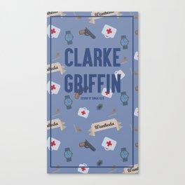 Clarke Griffin Wanheda Pattern Canvas Print