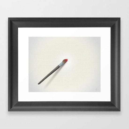 Blank Canvas - Painting Framed Art Print