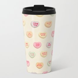 what does your heart say? Metal Travel Mug
