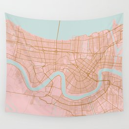 New Orleans map, Lousiana Wall Tapestry