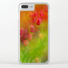 Tulips in the Garden Clear iPhone Case