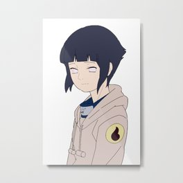 Hinata Hyuga Metal Print
